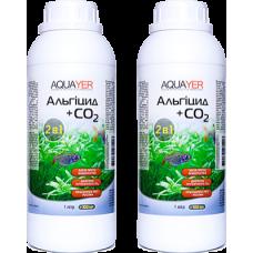 2 шт Aquayer Альгицид+СО2 1 л для борьбы с водорослями