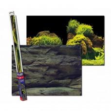 Аквариумный задний фон Aqua Nova Скалы/Растения 150x60 см
