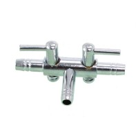 Кран на два выхода металлический SCHEGO 617 для шланга 4/6 мм