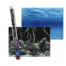 Аквариумный задний фон Aqua Nova Синее море/Камни с корягами 150x60 см