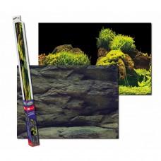 Аквариумный задний фон Aqua Nova Скалы/Растения 100x50 см