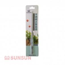 Пинцет прямой SunSun SC-05 металлический 27 см