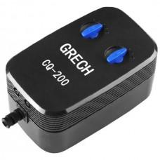 Компрессор двухканальный Grech CQ-200, 198 л/ч для аквариума до 200 л